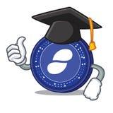 Graduation Status coin character cartoon. Vector illustration Royalty Free Stock Images