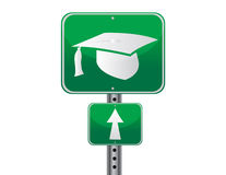 Graduation street sign Stock Photos