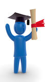 Graduation student Royalty Free Stock Photo