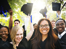 Graduation Student Commencement University Degree Concept.  royalty free stock photography