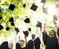 Graduation Student Commencement University Degree Concept.  Royalty Free Stock Image