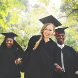 Graduation Student Commencement University Degree Concept Stock Image