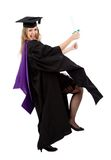 Graduation student exciting Stock Image
