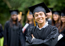 Graduation student and group Stock Photography