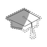 Graduation student hat. Icon  illustration graphic design Royalty Free Stock Photo