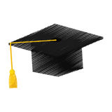 Graduation student hat. Icon  illustration graphic design Stock Images