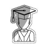Graduation student hat. Icon  illustration graphic design Royalty Free Stock Image