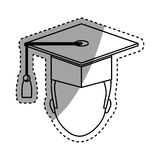 Graduation student hat. Icon  illustration graphic design Stock Photography