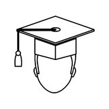 Graduation student hat. Icon  illustration graphic design Stock Photo