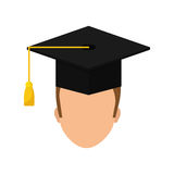 Graduation student hat. Icon  illustration graphic design Royalty Free Stock Photos