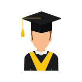 Graduation student hat. Icon  illustration graphic design Stock Photos