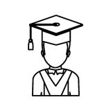 Graduation student hat. Icon  illustration graphic design Royalty Free Stock Images
