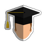 Graduation student hat. Icon  illustration graphic design Royalty Free Stock Photography
