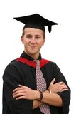 Graduation student - isolated Royalty Free Stock Photo