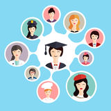 Graduation student make career choices. Stock Photos