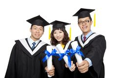 Graduation students Royalty Free Stock Photo