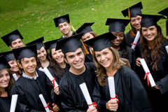 Graduation students Royalty Free Stock Images