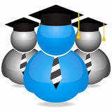 Graduation students icons Stock Photos