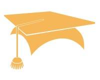 Graduation symbol. Closeup of graduation hat  symbol Stock Photography