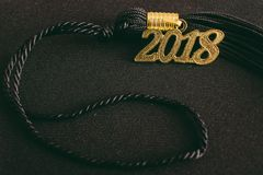 2018 Graduation Tassel. A 2018 Graduation Tassel with nobody background Stock Image