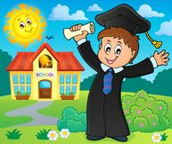 Graduation theme image 2 Stock Images