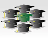 Graduation time. Many graduation hit,is this the time Royalty Free Stock Photography