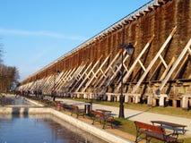 Graduation towers of Ciechocinka. Royalty Free Stock Image