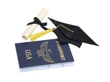 Graduation travels Royalty Free Stock Photos