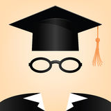 Graduation. Vector illustration of a man with a graduation hat Royalty Free Stock Image