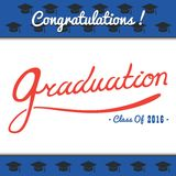 Graduation Vector template  Party, Congrats, Celebrate, High School.College   Set.Celebration of finishing . Minimal Royalty Free Stock Photo