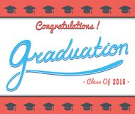 Graduation Vector template  Party, Congrats, Celebrate, High School.College   Set.Celebration of finishing . Minimal. Template copy space for text. Graduation Royalty Free Stock Image