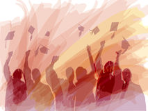Graduation in water colors vector illustration