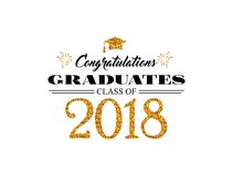 Graduation wishes overlays, lettering labels design. Template for graduation design, t-shirt, high school or college. Graduate, yearbook. Modern calligraphy Royalty Free Stock Image