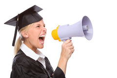 Graduation woman Royalty Free Stock Images
