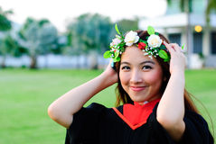Graduation Woman. And commencement day Royalty Free Stock Images
