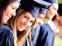 Graduation woman Royalty Free Stock Photography