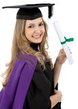 Graduation woman isolated Royalty Free Stock Photo