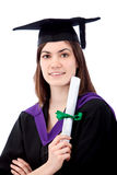 Graduation woman portrait Royalty Free Stock Image