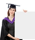 Graduation woman portrait Royalty Free Stock Images