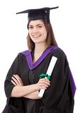 Graduation woman portrait Royalty Free Stock Photography