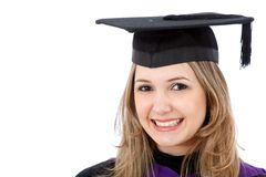Graduation woman portrait Royalty Free Stock Photos