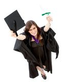 Graduation woman portrait - top view Stock Photography