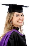 Graduation woman smiling Royalty Free Stock Photography