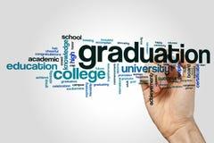 Graduation word cloud Royalty Free Stock Photography