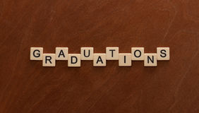 Graduations lettering. Royalty Free Stock Photography