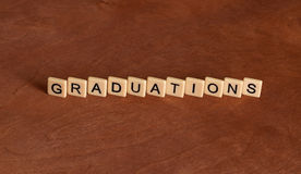 Graduations lettering. Stock Photos