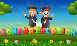 Free Graduations Of Children In Morning Stock Image - 118303261