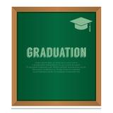 Graduazione a bordo del concetto di istruzione Fotografia Stock Libera da Diritti