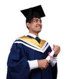 Graduazione con il percorso di residuo della potatura meccanica Fotografie Stock Libere da Diritti
