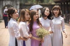 Graduazione degli studenti universitari di Hanoi Fotografie Stock